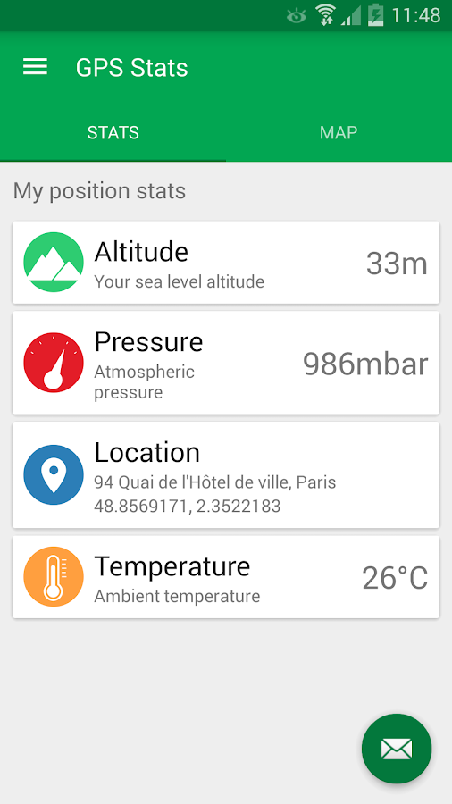 GPS Stats Android Apps On Google Play - My location sea level