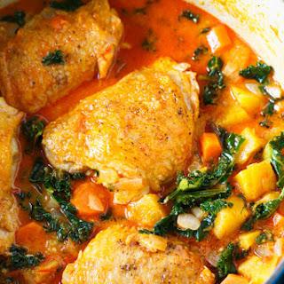 Coconut Harissa Curry Braised Chicken
