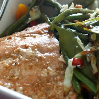 Teriyaki Salmon with Stir Fry Veggies.