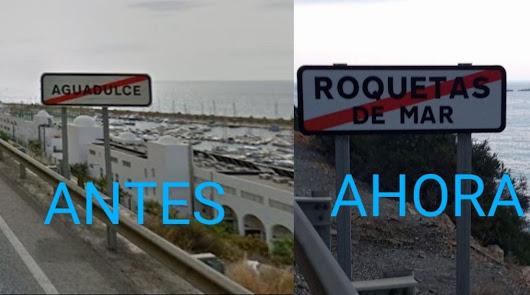 """""""Quieren borrar el nombre de Aguadulce"""": polémica por culpa de un nuevo cartel"""
