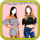 Women Short Sleeve Crop Tops