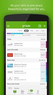 Prism Bills & Personal Finance Screenshot 2