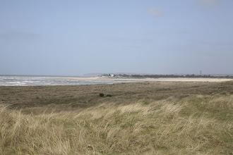 Photo: Blick von den Dünen in Lindbergh Plage Richtung Portbail