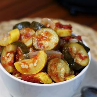 Stewed Zucchini & Summer Squash