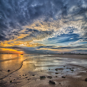 Only Nature by Miguel Pires - Landscapes Sunsets & Sunrises ( sand, sunset, sea, holidays, algarve, tavira, beach, paradise, portugal, sun,  )