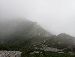赤沢岳への稜線