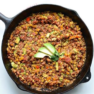 Healthy One Pot Quinoa Taco Casserole.