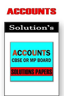 Accounts 12th Class Cbse Solutions 2018 - náhled