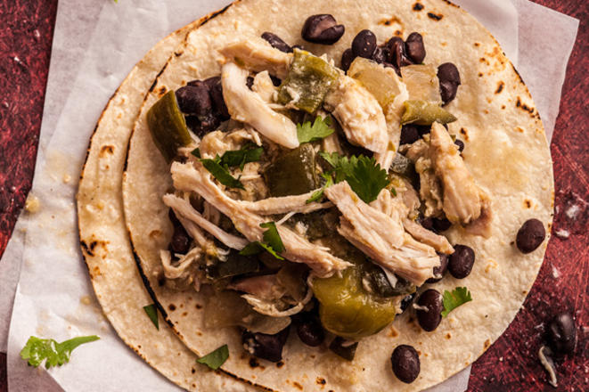 Slow Cooker Chicken Chile Verde Recept | Yummly