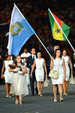 Photo: The Republic of San Marino's Olympic uniforms were designed by Salvatore Ferragamo. The athletes look sharp and sleek from head to toe. What do you think about this team's look?