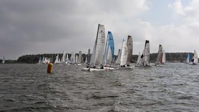 Photo: Start van lange afstandsrace naar Lelystad 13 september 2014