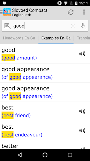 English <> Irish Slovoed Dictionary Compact screenshot 2