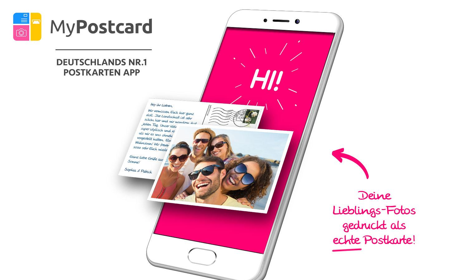 MyPostcard Postkarten App – Screenshot