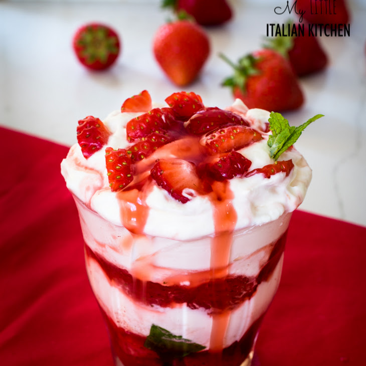 Quick Strawberry Yogurt and Cream Dessert Recipe