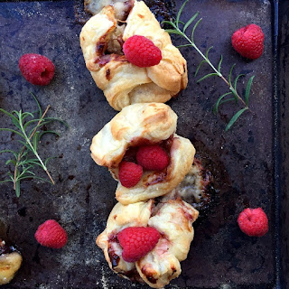 Baked Brie Bites with Raspberry Sauce.