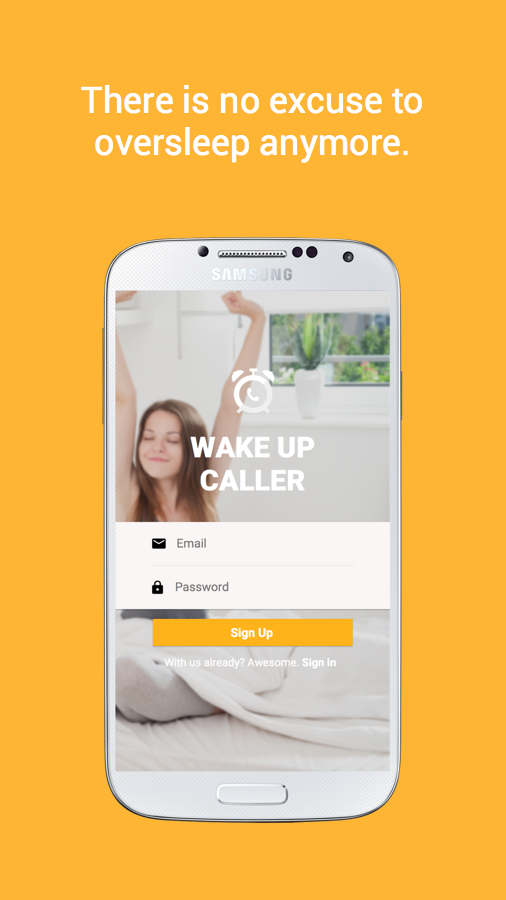Wake Up Call: Anywhere Anytime