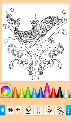 Dolphin and fish coloring book 14.0.4 screenshots 9