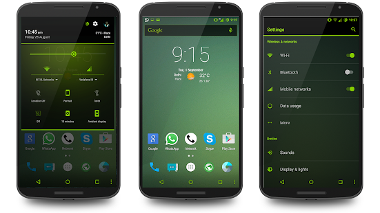 Neon Green Theme CM13 Screenshot