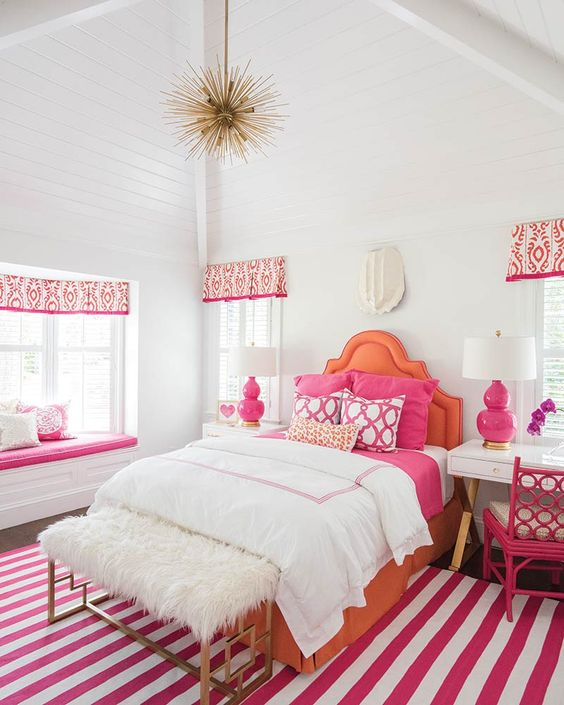 Striking Sea Island Themed for Pink Bedroom