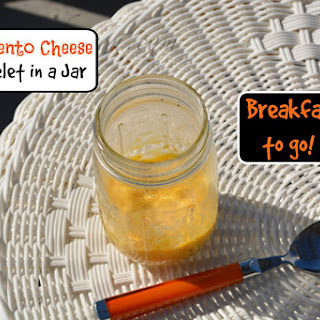Pimento Cheese Omelet in a Jar