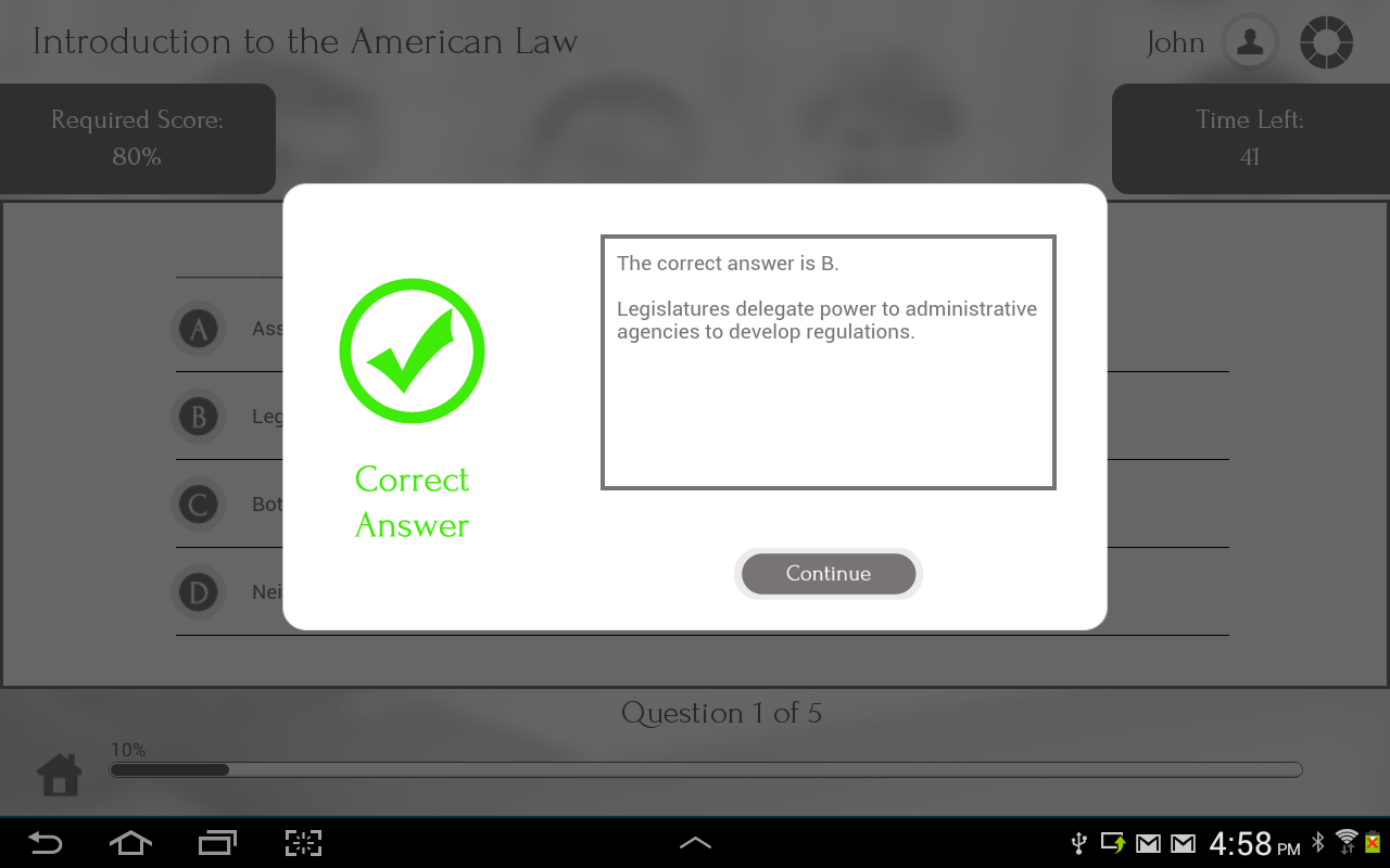 Learn US Law by GoLearningBus - screenshot