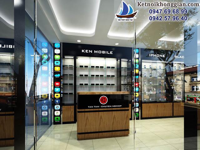 thiết kế cửa hàng điện thoại đẹp