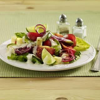 Tex Mex Salad with Lime Yogurt Dressing.