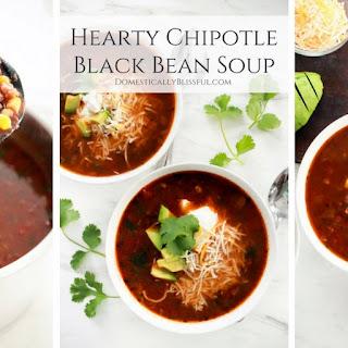 Hearty Chipotle Black Bean Soup