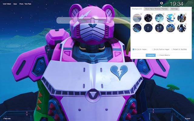Mecha Fortnite HD Wallpapers New Tab