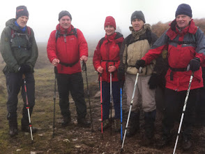 Photo: A walkers on the Comeragh Plateau on Owen Ryan's Nire loop, Sunday March 9th, 2014.  1 of 2