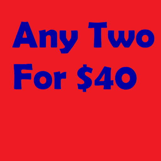 Get ANY two listed titles for $40