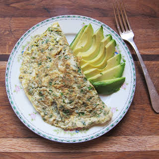 Avocado and Herb Omelet.