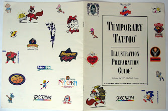 Photo: Front and back of the Temporary Tattoo brochure