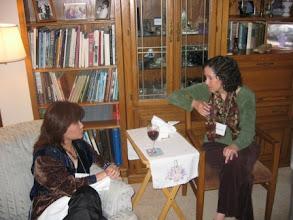 Photo: Triusa Tan and Professor Linda Levine