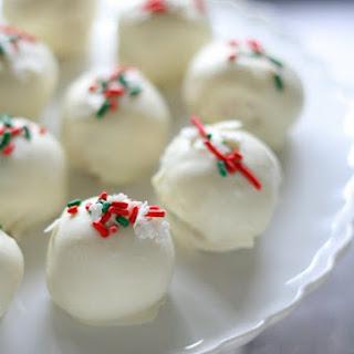 Christmas Funfetti Cake Batter Truffles