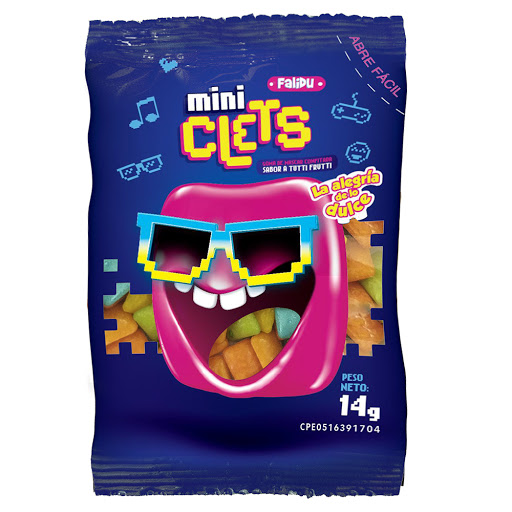 chicles mini clets 14gr
