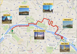 Photo: Cycling route 8km - Cycling guide in Paris from Notre-Dame to Eiffel Tower by veloiledefrance.com