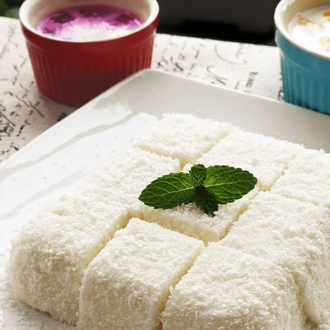 Coconut Jelly / Coconut Milk Pudding Dessert