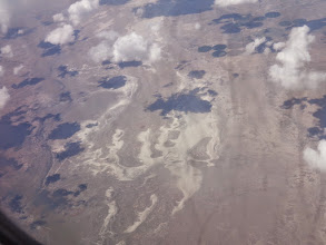 Photo: This is a salt flat south of Guadalupe Mountains National Park.