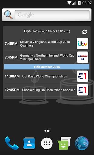 UK Live Sport TV Guide 2.01 screenshots 5