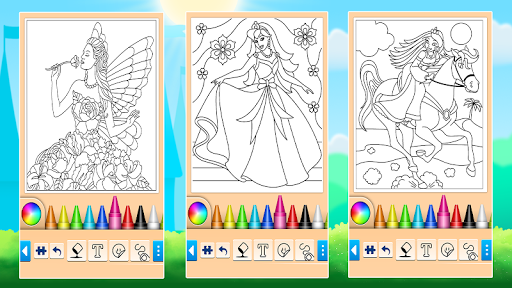 Princess Coloring Game 14.0.6 screenshots 13
