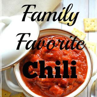 Family Favorite Chili