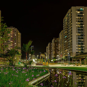 Rio2016 Athletes VIllage by night  by Rick Pelletier - Novices Only Street & Candid