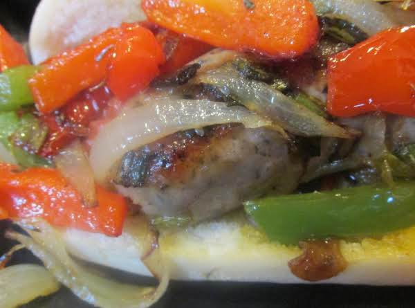 Irish Sausage  Links  With Peppers & Onions Recipe