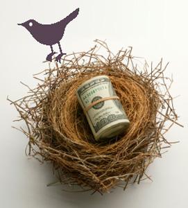 Twitter cash in bird's nest