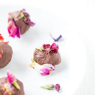 Edible Flower Chocolate Truffles.