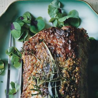 Roast Pork Loin with Garlic and Rosemary Recipe   Epicurious.Com Recipe