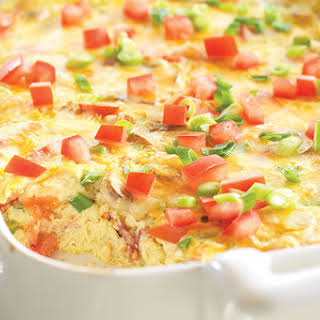Crustless Bacon and Cheese Quiche.