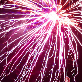 Sizzle by Savannah Eubanks - Abstract Fire & Fireworks ( firework, color, night )