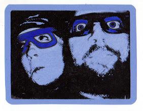 Photo: Mail Art 365 card 1e 12/19/2011 +Scott Krichau and I, +Carolyn Curtis